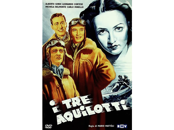 画像1: イタリア語で観るイタリア映画 アルベルト・ソルディ 「I Tre Aquilotti」 DVD  【B2】【C1】