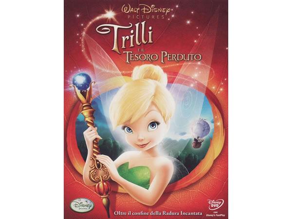 イタリア語, 英語, ドイツ語, トルコ語, クロアチア語, スロヴェニア語で観るアニメ 「ティンカー・ベルと月の石 Tinker Bell and the Lost Treasure」DVD