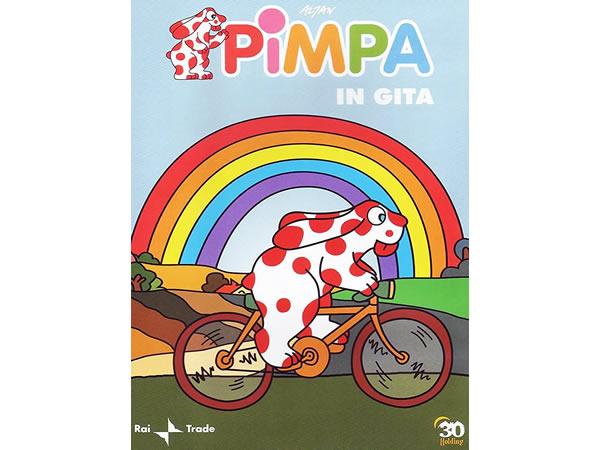 画像1: イタリア語で観るイタリアのアニメ映画 ピンパ「Pimpa in gita」 DVD【A1】【A2】【B1】【B2】