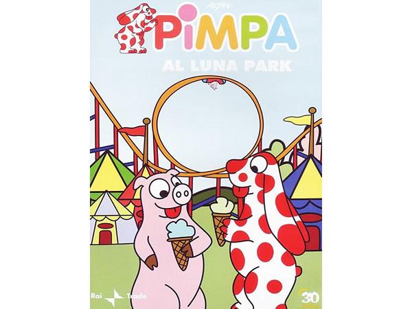 画像1: イタリア語で観るイタリアのアニメ映画 ピンパ「Pimpa al luna park」 DVD【A1】【A2】【B1】【B2】