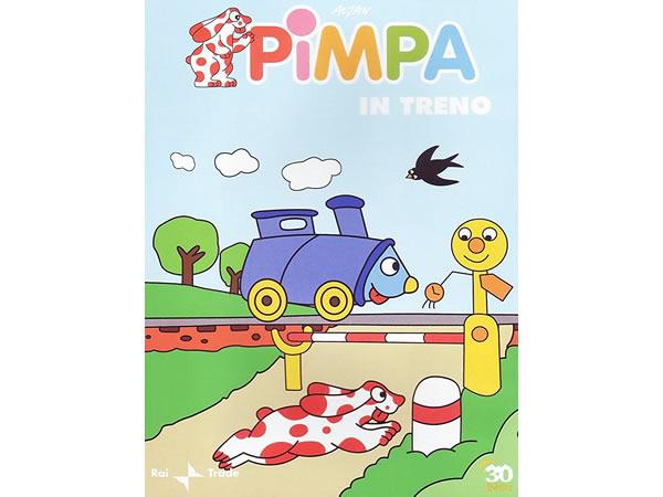 画像1: イタリア語で観るイタリアのアニメ映画 ピンパ「Pimpa in treno」 DVD【A1】【A2】【B1】【B2】