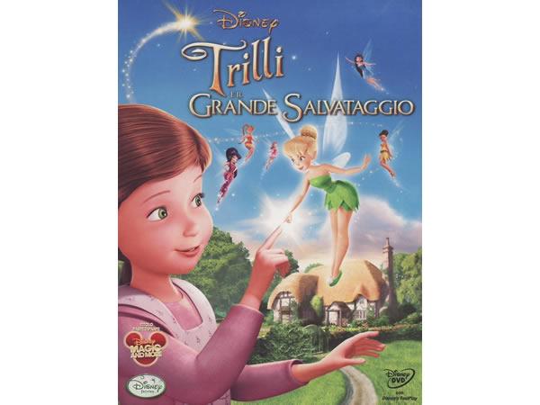 イタリア語, フランス語, 英語, ヒンディー語で観るアニメ 「ティンカー・ベルと妖精の家 Tinker Bell and the Great Fairy Rescue」DVD