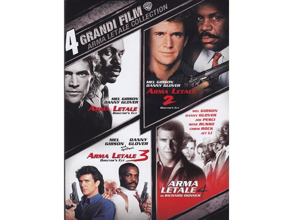 画像1: イタリア語などで観るメル・ギブソンの「リーサル・ウェポン コンプリート」 DVD 4枚組【B1】【B2】【C1】