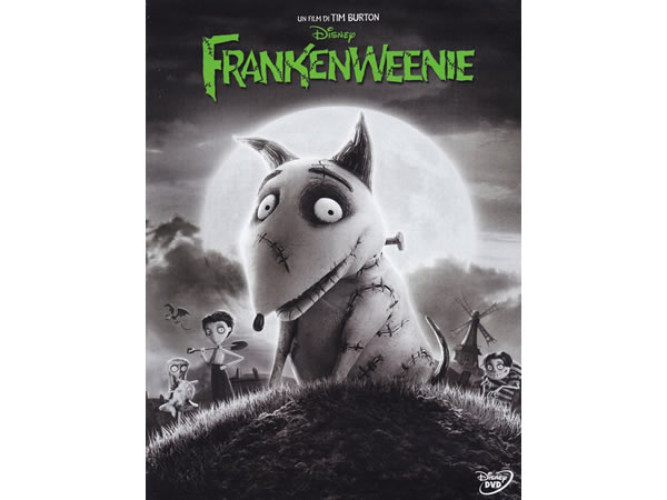 画像1: イタリア語などで観る、ティム・バートンの「フランケンウィニー」 DVD【B1】【B2】【C1】