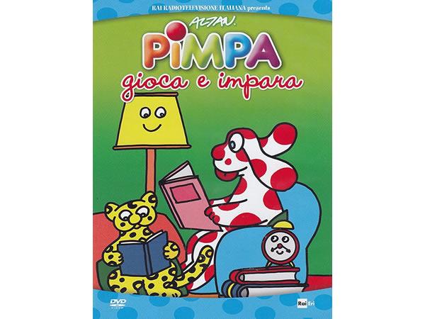画像1: イタリア語で観るイタリアのアニメ映画 ピンパ「Pimpa gioca e impara」 DVD【A1】【A2】【B1】【B2】