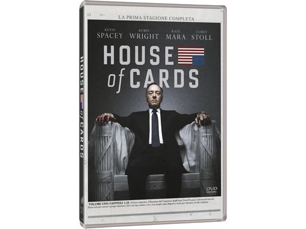 画像1: イタリア語などで観るケヴィン・スペイシーの「ハウス・オブ・カード 野望の階段 シーズン1」 DVD 4枚組  【B2】【C1】