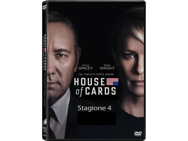 画像1: イタリア語などで観るケヴィン・スペイシーの「ハウス・オブ・カード 野望の階段 シーズン4」 DVD 4枚組  【B2】【C1】