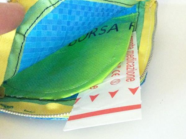 画像3: IKEARTE イタリア製イケアのガジェット ナイロン小物入れポーチ 【カラー・ブルー】