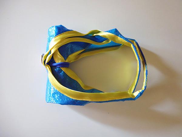 画像3: IKEARTE イタリア製イケアのガジェット ナイロン折りたたみエコバッグ 【カラー・ブルー】【カラー・イエロー】