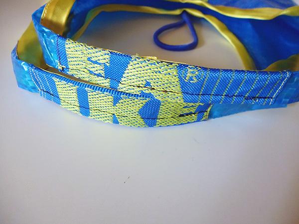 画像5: IKEARTE イタリア製イケアのガジェット ナイロン折りたたみエコバッグ 【カラー・ブルー】【カラー・イエロー】