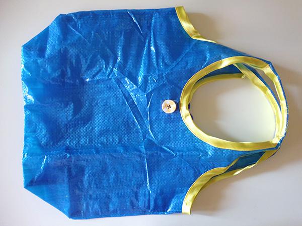 画像1: IKEARTE イタリア製イケアのガジェット ナイロン折りたたみエコバッグ 【カラー・ブルー】【カラー・イエロー】