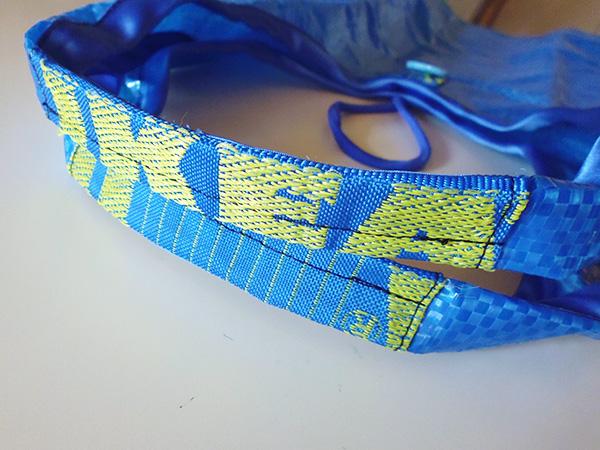 画像5: IKEARTE イタリア製イケアのガジェット ナイロン折りたたみエコバッグ 【カラー・ブルー】
