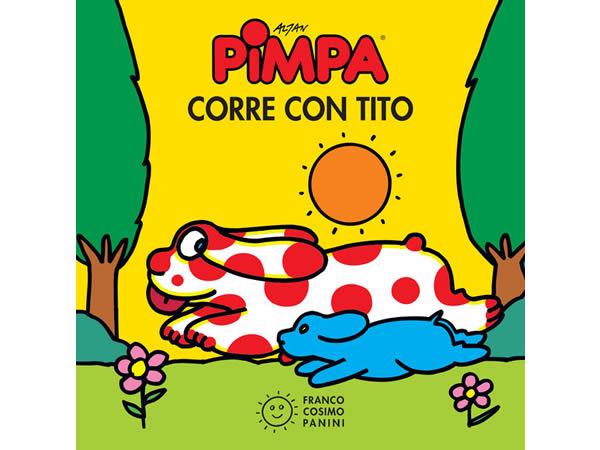 画像1: イタリア語で絵本、ピンパを読む Pimpa corre con Tito 対象年齢2歳以上【A1】