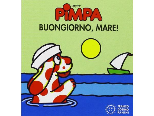 画像1: イタリア語で絵本、ピンパを読む Pimpa. Buongiorno, mare! 対象年齢0歳以上【A1】