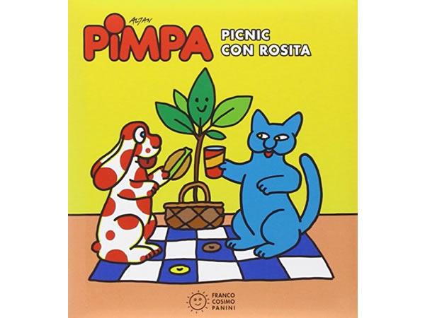 画像1: イタリア語で絵本、ピンパを読む Pimpa. Picnic con Rosita 対象年齢3歳以上【A1】