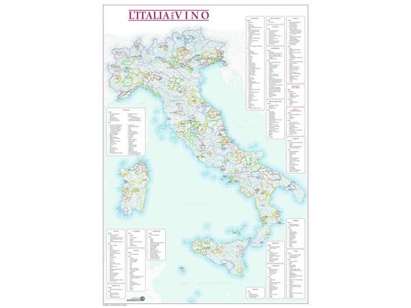 画像1: イタリアワイン地図 マップ 91 x 61 cm