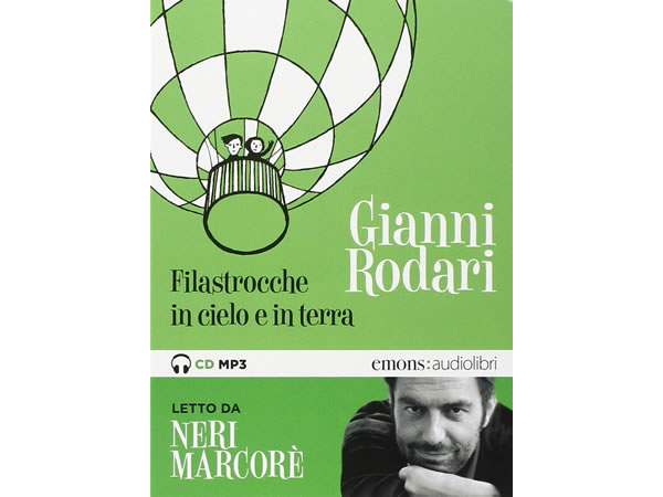 画像1: イタリアの児童文学作家ジャンニ・ロダーリのオーディオブック「Filastrocche in cielo e in terra letto da Neri Marcorè」【B1】