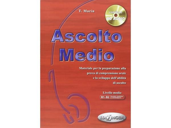 画像1: CD付き 聞き取りテキスト 問題集 Ascolto Medio イタリア語 【B1】【B2】