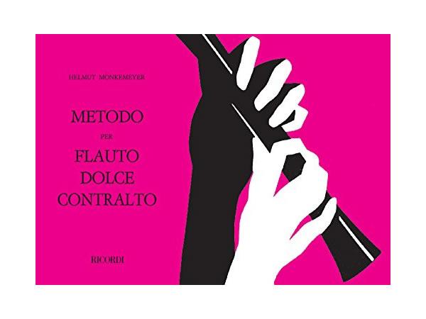 画像1: METODO PER FLAUTO DOLCE CONTRALTO - RICORDI