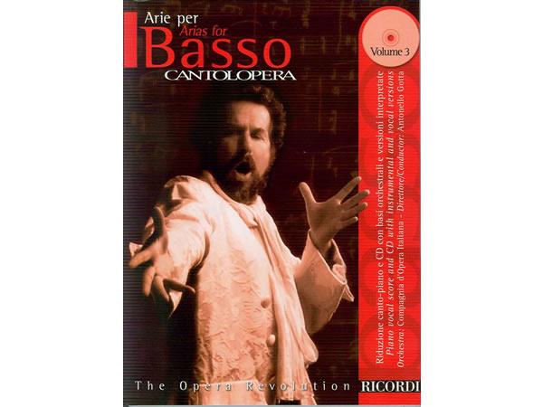 画像1: 楽譜 CANTOLOPERA: ARIE PER BASSO VOL. 3 - THE OPERA REVOLUTION CD付き - RICORDI