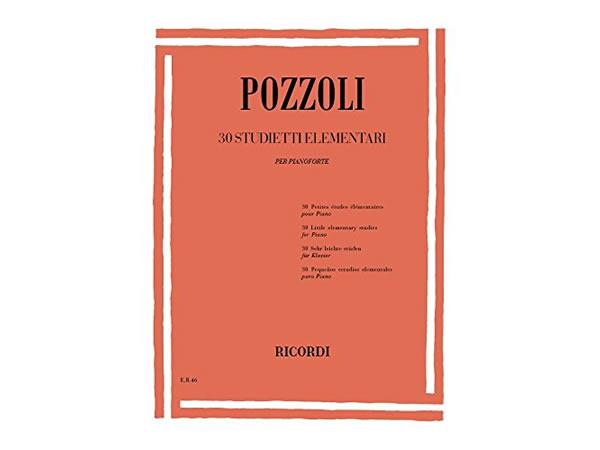 画像1: 楽譜 30 STUDIETTI ELEMENTARI - POZZOLI - RICORDI