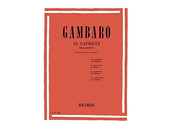 画像1: 楽譜 21 CAPRICCI - GAMBARO - RICORDI