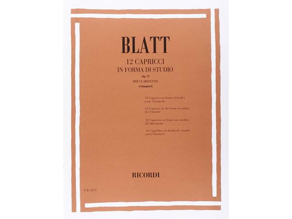 画像1: 楽譜 12 CAPRICCI IN FORMA DI STUDIO OP. 17 - BLATT - RICORDI