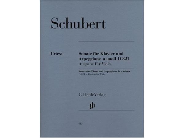 画像1: 楽譜 Sonate fur Klavier und Arpeggione a-moll D 821 (op. post.): Ausgbe fur Viola - SCHUBERT