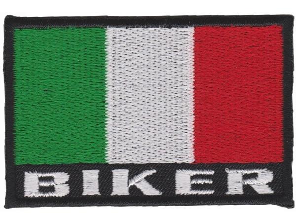 画像1: イタリア 刺繍ワッペン イタリア国旗 BIKER ITALY【カラー・ホワイト】【カラー・レッド】【カラー・グリーン】