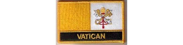 画像1: イタリア 刺繍ワッペン VATICANO 【カラー・イエロー】【カラー・ブラック】