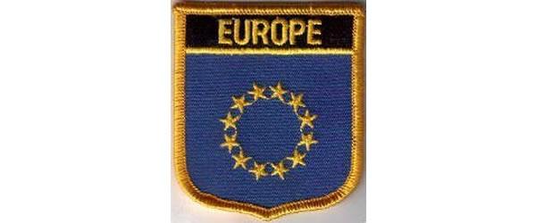 画像1: イタリア 刺繍ワッペンヨーロッパ 【カラー・ブラック】【カラー・ブルー】【カラー・イエロー】
