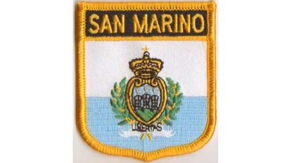 画像1: イタリア 刺繍ワッペン SAN MARINO 【カラー・イエロー】【カラー・ブラック】