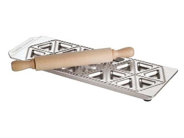 画像1: 手打ちパスタ用 トルテッリ用型 三角&麺棒 18個分