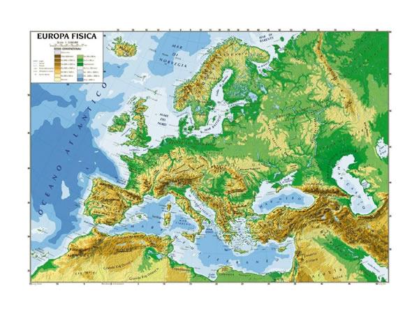 画像1: ヨーロッパ マップ 100 x 140 cm