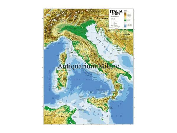 画像1: イタリア マップ 100 x 140 cm