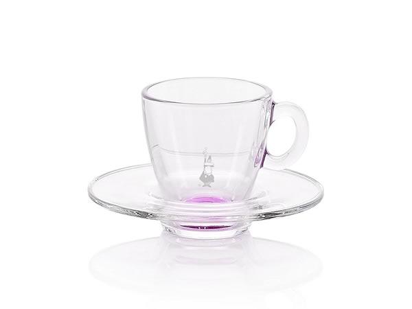 画像1: 耐熱ガラス エスプレッソ用カップ 1客 Bialetti(ビアレッティ)【カラー・パープル】