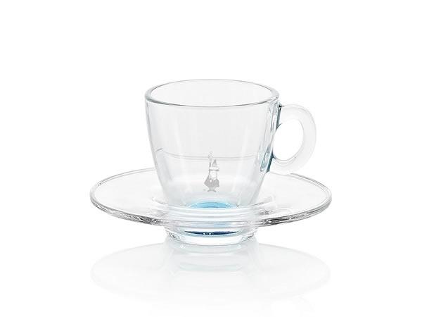 画像1: 耐熱ガラス エスプレッソ用カップ 1客 Bialetti(ビアレッティ)【カラー・ブルー】