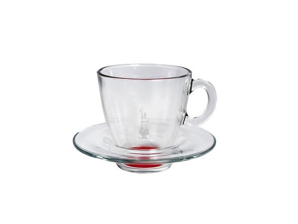 画像1: 耐熱ガラス エスプレッソ用カップ 1客 Bialetti(ビアレッティ)【カラー・レッド】