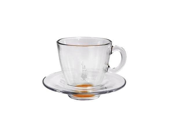 画像1: 耐熱ガラス カプチーノ用カップ 1客 Bialetti(ビアレッティ)【カラー・オレンジ】