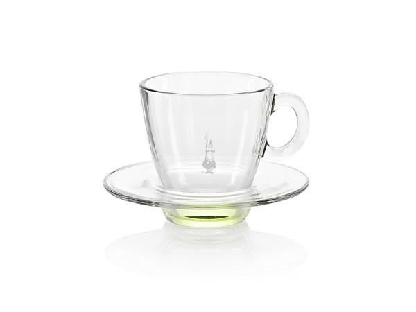 画像1: 耐熱ガラス カプチーノ用カップ 1客 Bialetti(ビアレッティ)【カラー・グリーン】
