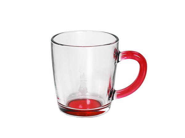 画像1: 耐熱ガラス マグカップ 1客 Bialetti(ビアレッティ)【カラー・レッド】