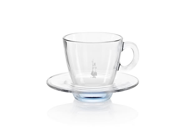 画像1: 耐熱ガラス カプチーノ用カップ 1客 Bialetti(ビアレッティ)【カラー・ブルー】