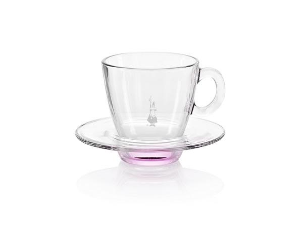 画像1: 耐熱ガラス カプチーノ用カップ 1客 Bialetti(ビアレッティ)【カラー・ピンク】