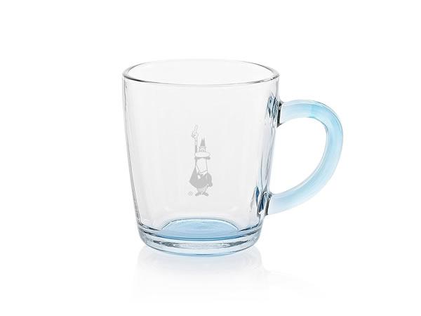 画像1: 耐熱ガラス マグカップ 1客 Bialetti(ビアレッティ)【カラー・ブルー】