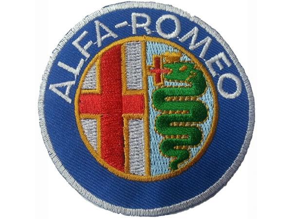 画像1: イタリア 刺繍ワッペン ALFA ROMEO 【カラー・イエロー】【カラー・ホワイト】【カラー・レッド】【カラー・グリーン】【カラー・ブルー】