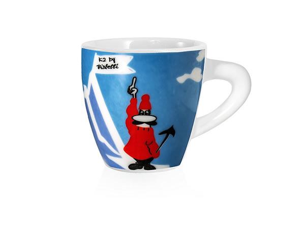 画像1: エスプレッソコーヒーカップ 4客セット Bialetti(ビアレッティ)K2【カラー・ブルー】