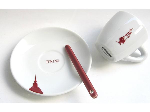 画像1: エスプレッソコーヒーカップ 2客ペアセット Bialetti(ビアレッティ)TORINO【カラー・ホワイト】【カラー・レッド】