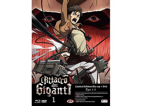画像1: イタリア語などで観る、諫山創の「進撃の巨人」#01(1-5話)Blu-Ray+DVD 【B1】