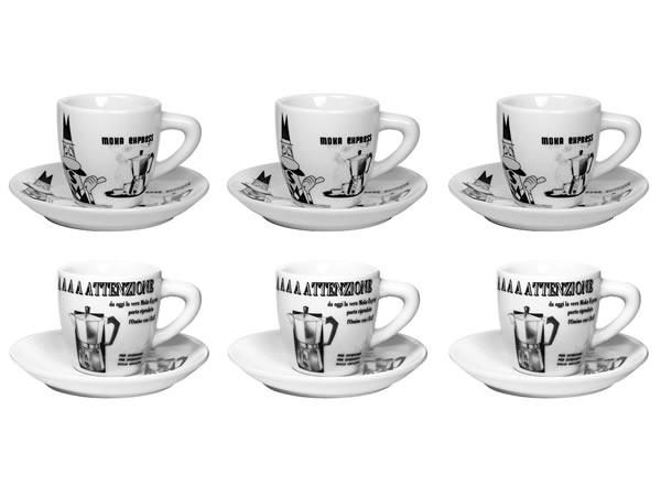 画像1: エスプレッソコーヒーカップ 6客セット Bialetti(ビアレッティ)CAROSELLO【カラー・ホワイト】【カラー・ブラック】