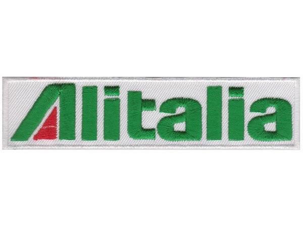 画像1: イタリア 刺繍ワッペン ALITALIA 【カラー・ホワイト】【カラー・レッド】【カラー・グリーン】